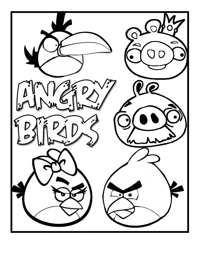 Free Printable Bird Coloring Pages  Free Printable Angry Bird Coloring Pages For Kids