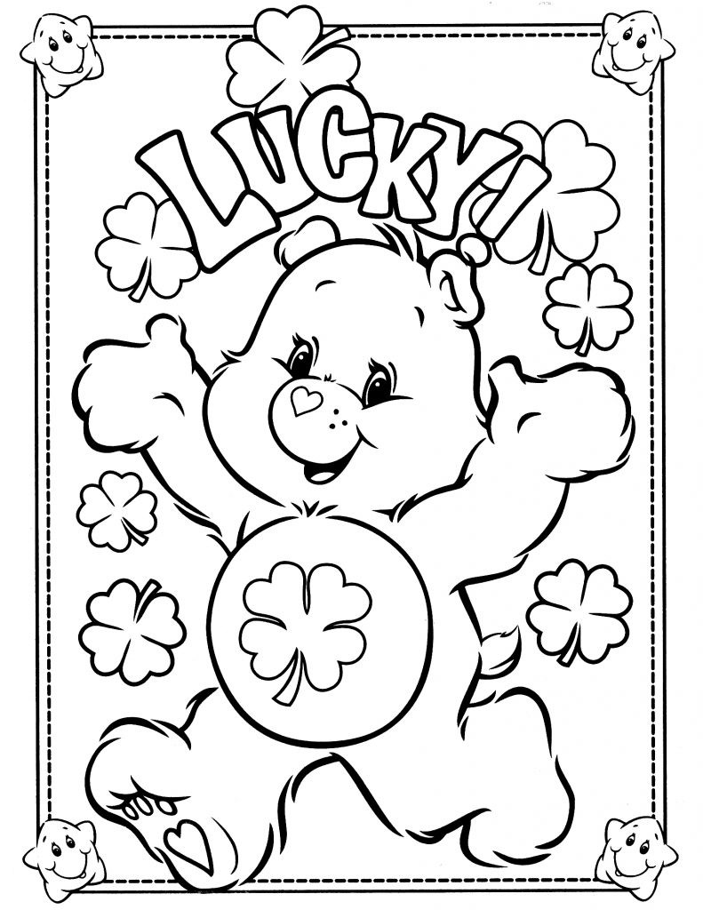Free Printable Coloring Books For Toddlers  Free Printable Care Bear Coloring Pages For Kids