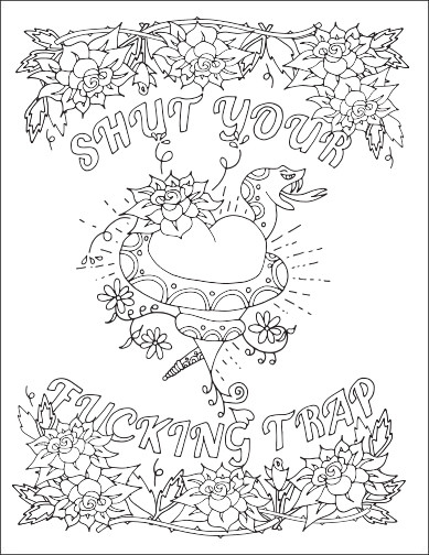 Free Printable Coloring Pages For Adults Only Swear Words  Free Swear Word Coloring Pages for Adults ly Printable