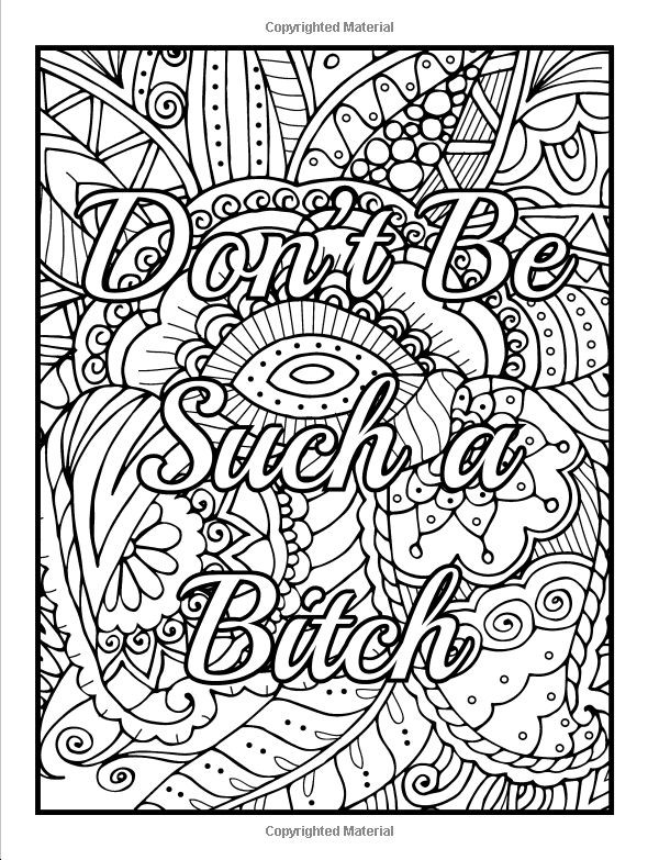 Free Printable Coloring Pages For Adults Only Swear Words  18awesome Free Printable Coloring Pages For Adults ly