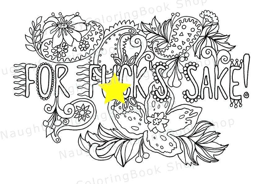 Free Printable Coloring Pages For Adults Only Swear Words  Free line Coloring Pages For Adults Swear Words The