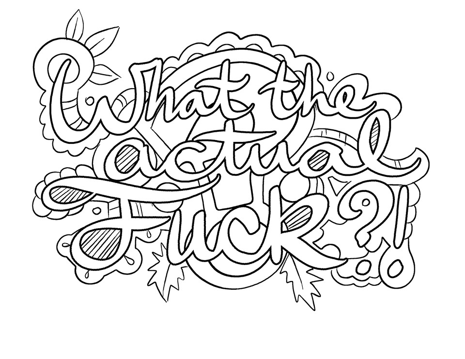 Free Printable Coloring Pages For Adults Only Swear Words  Swear Words