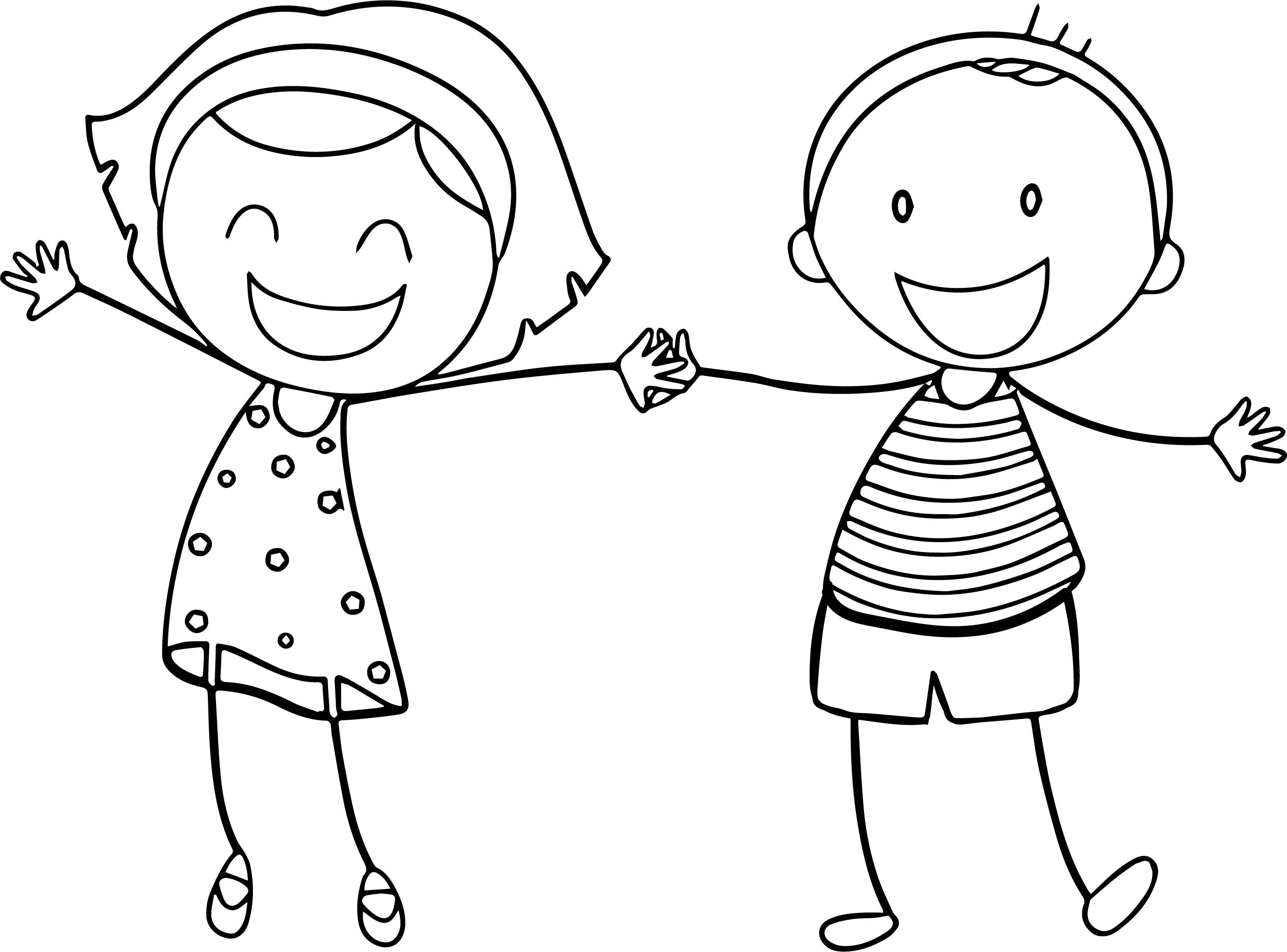 Free Printable Coloring Pages For Girls And Boys  fun coloring pages for boys and girls basic funny boy girl