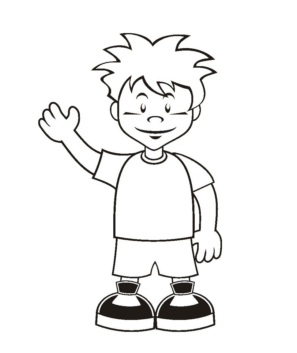 Free Printable Coloring Pages For Girls And Boys  Free Printable Boy Coloring Pages For Kids