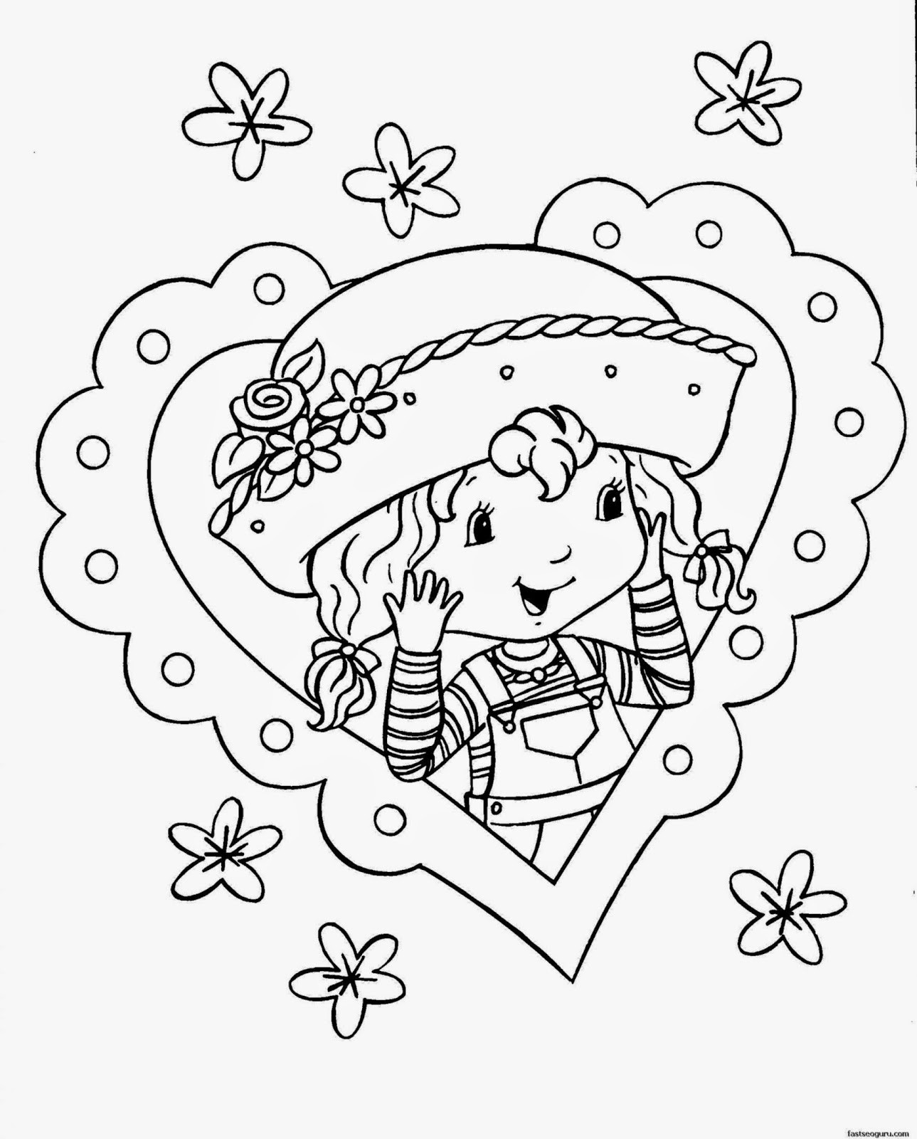 Free Printable Coloring Pages For Girls  Printable Coloring Pages For Girls