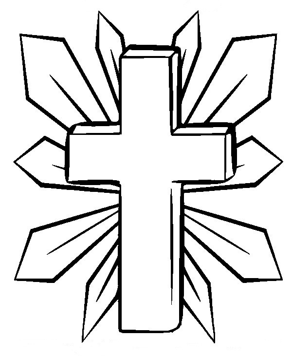 Free Printable Coloring Pages Of Crosses  coloring pages crosses