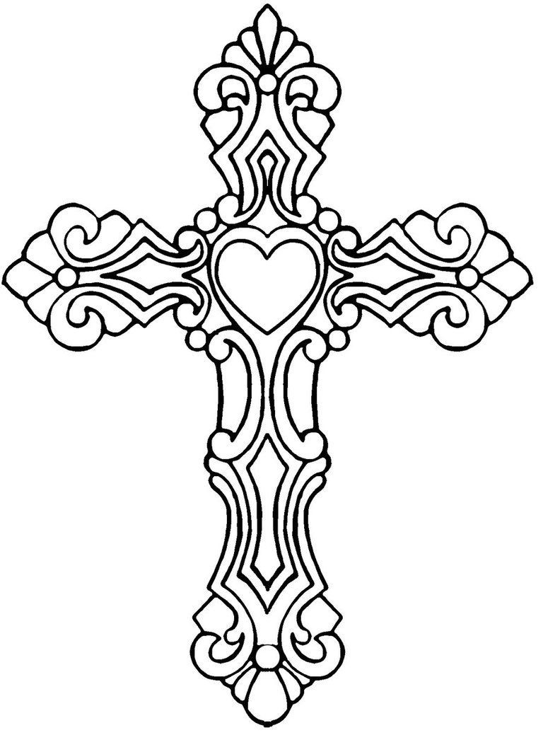 Free Printable Coloring Pages Of Crosses  Celtic Cross Coloring Page Coloring Home