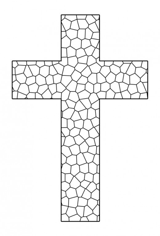 Free Printable Coloring Pages Of Crosses  Free Printable Cross Coloring Pages