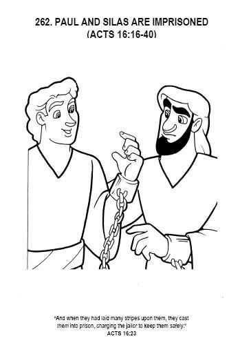 Free Printable Coloring Pages Of Paul And Silas  35 best images about PAUL & SILAS IN PRISON on