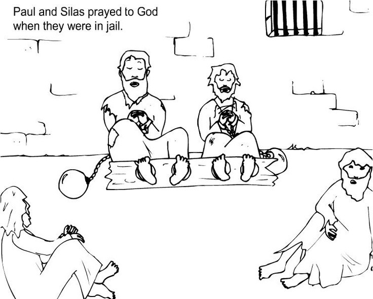 Free Printable Coloring Pages Of Paul And Silas  Paul And Silas Coloring Page AZ Coloring Pages