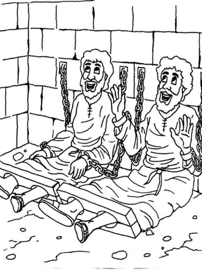 Free Printable Coloring Pages Of Paul And Silas  Paul In Prison Coloring Page AZ Coloring Pages