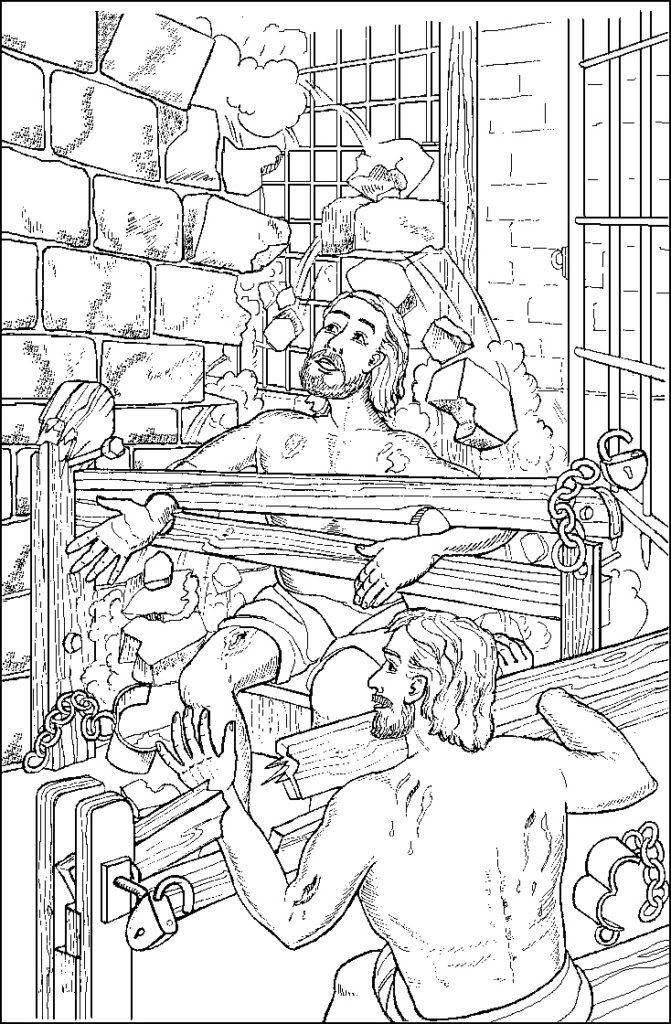 Free Printable Coloring Pages Of Paul And Silas  Paul And Silas In Jail Free Coloring Page Coloring Home
