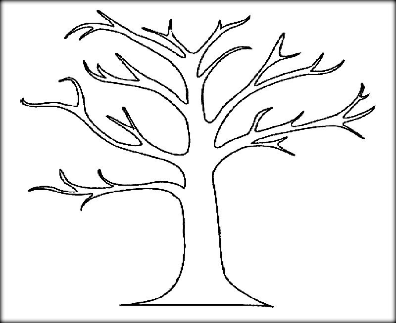 Free Printable Coloring Pages Trees  Download Tree & Leaves Coloring pages for Kids & Adult
