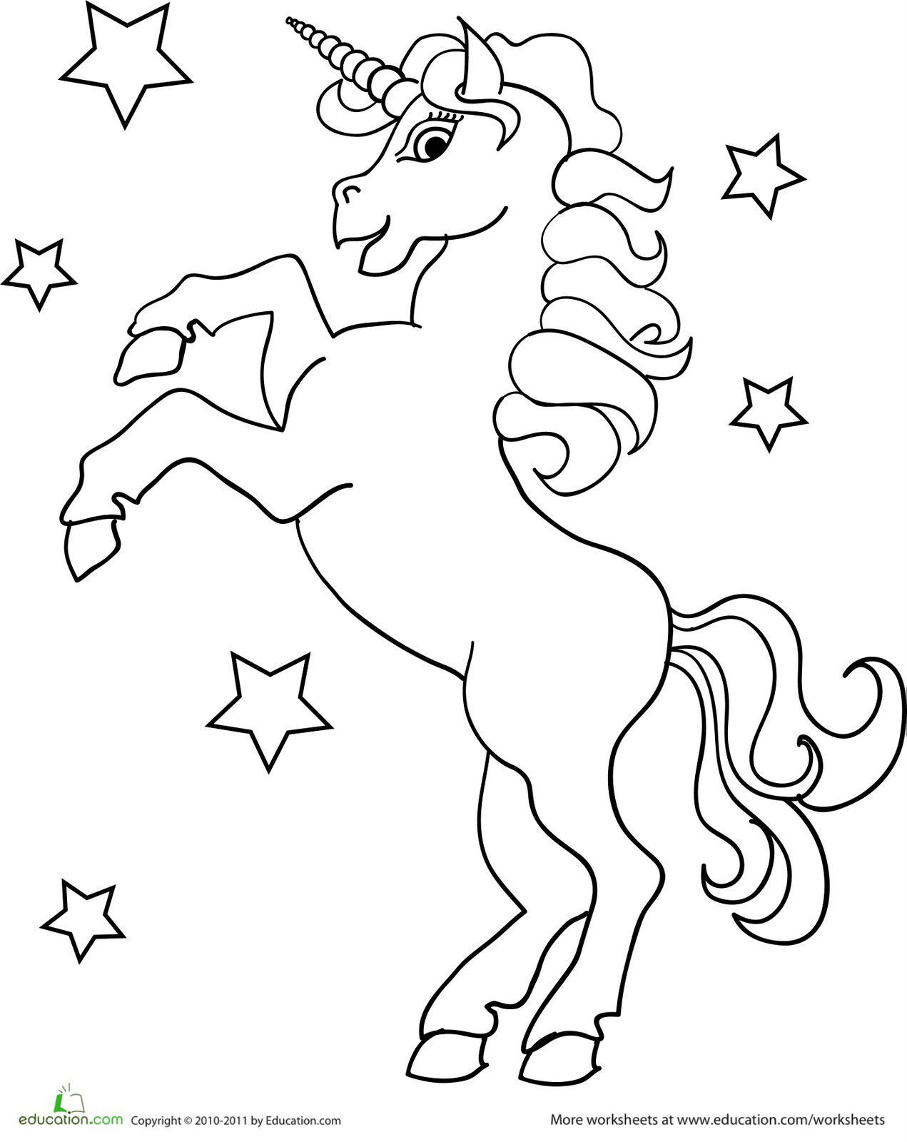 Free Printable Coloring Pages Unicorns  Flying Unicorn Coloring Pages For Kids