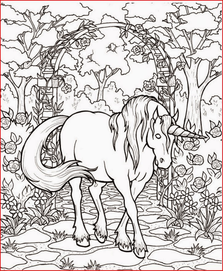 Free Printable Coloring Pages Unicorns  Free Printable Fantasy Coloring Pages for Kids Best