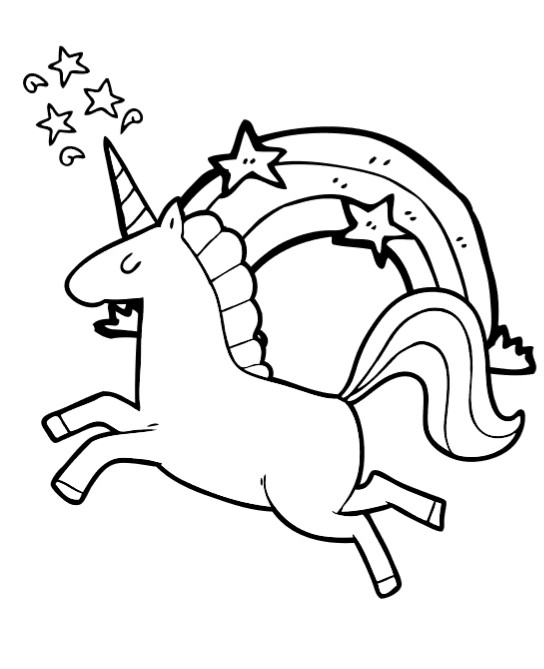 Free Printable Coloring Pages Unicorns  Free Unicorn Coloring Book Pages So cute Fun Thrifty Mom