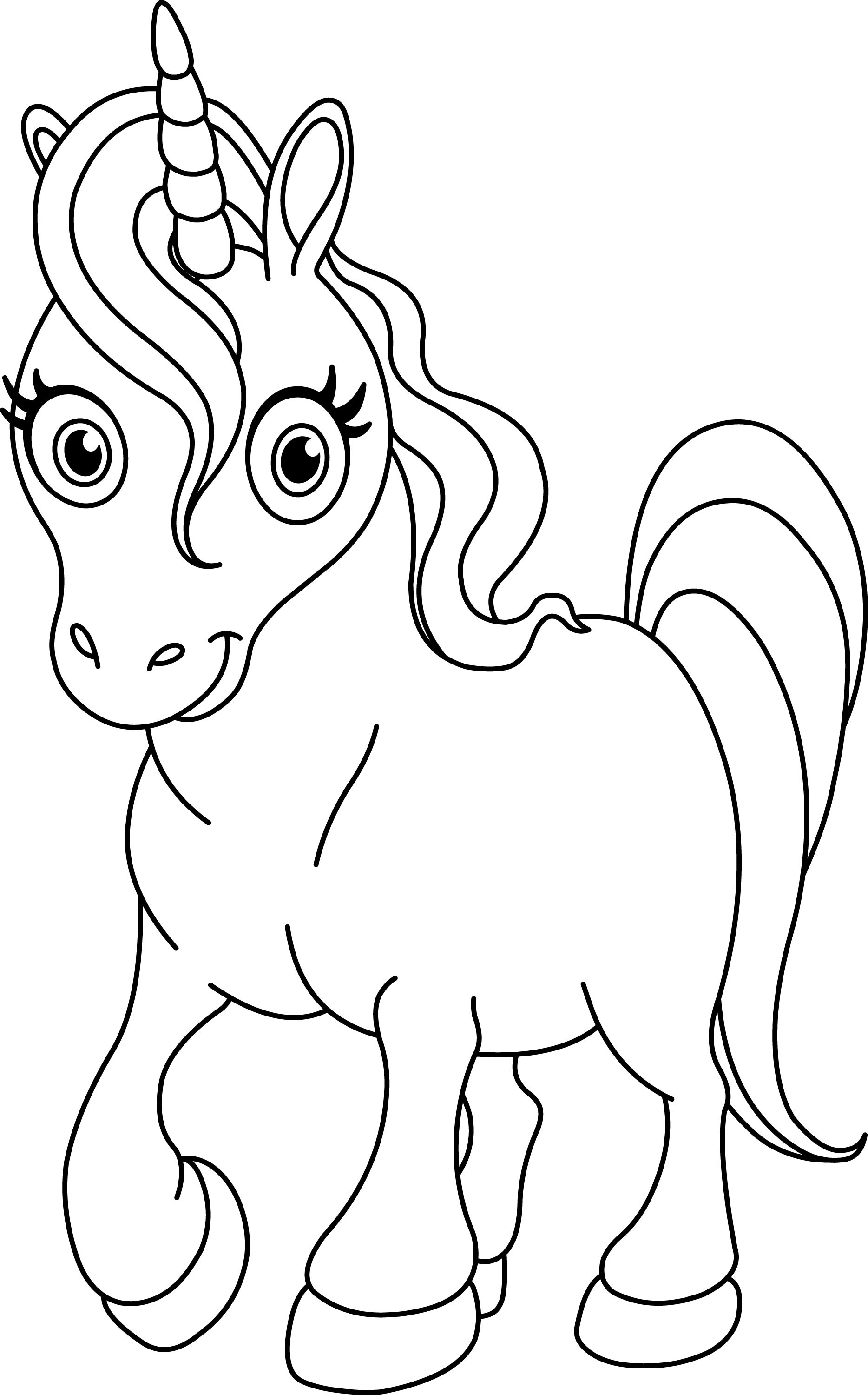 Free Printable Coloring Pages Unicorns  Perfect By Unicorn Coloring Page on with HD Resolution