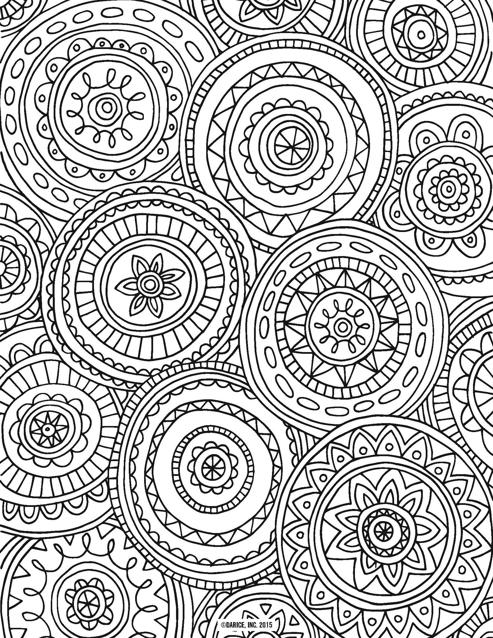 Free Printable Coloring Sheets Adults  9 Free Printable Adult Coloring Pages