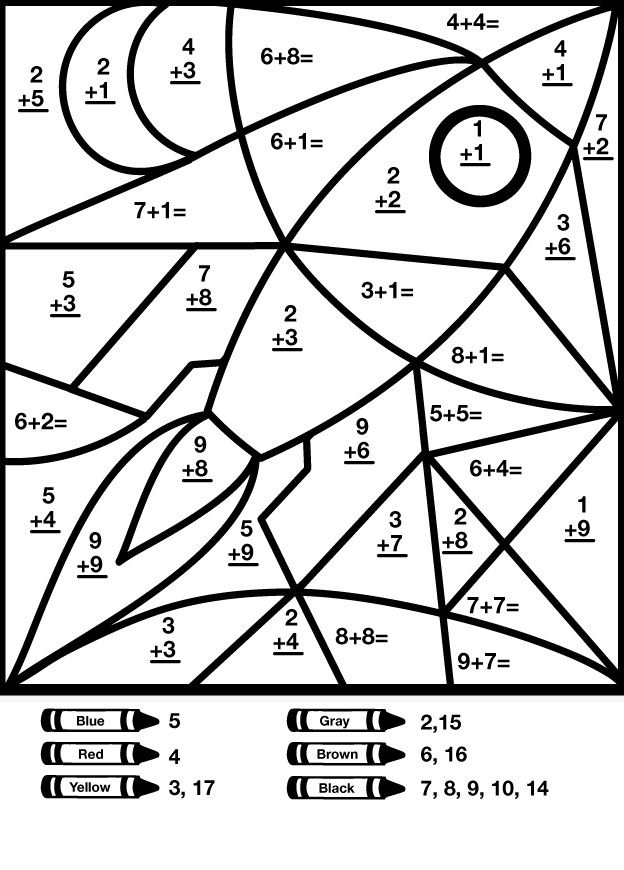 Free Printable Coloring Sheets For 4Th And 5Th Graders  Multiplication Coloring Sheets For Fourth Grade