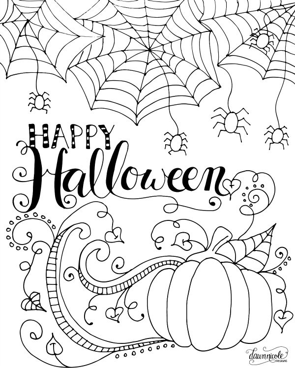 Free Printable Coloring Sheets For Adults Halloween  200 Free Halloween Coloring Pages For Kids The Suburban Mom