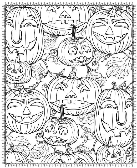 Free Printable Coloring Sheets For Adults Halloween  Free Printable Halloween Coloring Pages for Adults Best
