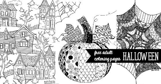 Free Printable Coloring Sheets For Adults Halloween  Free Halloween Adult Coloring Pages U Create