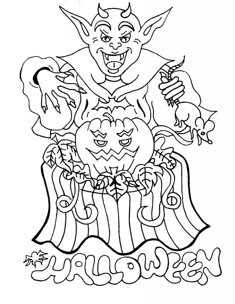 Free Printable Coloring Sheets For Adults Halloween  Free Printable Halloween Coloring Pages For Kids