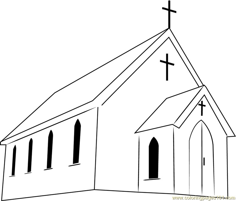 Free Printable Coloring Sheets For Church  First Presbyterian Church Coloring Page Free Church