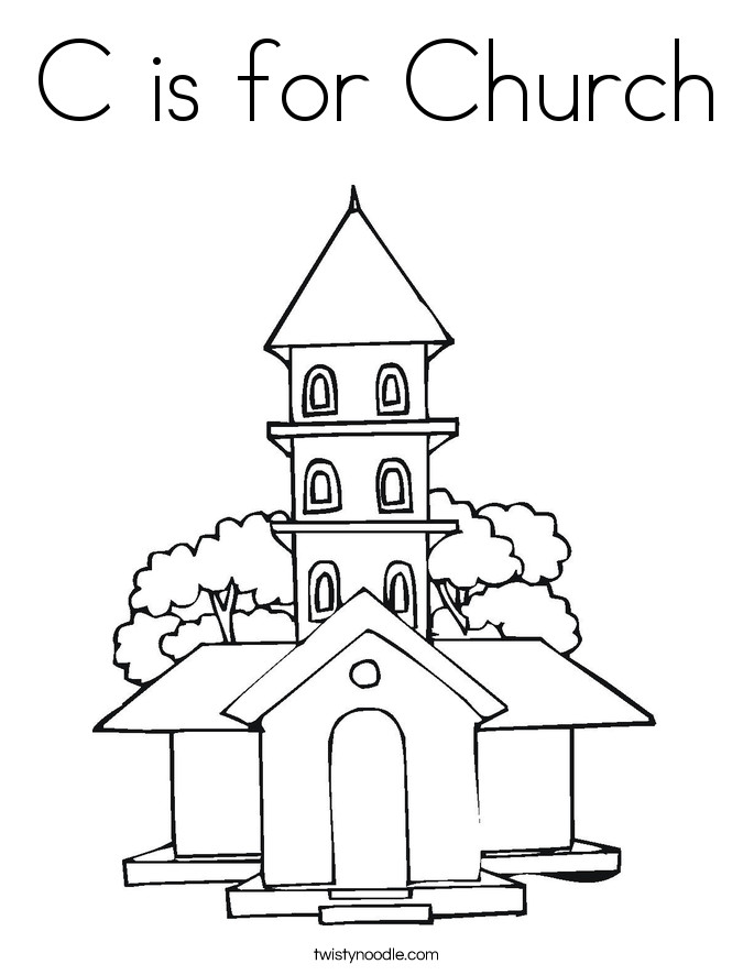 Free Printable Coloring Sheets For Church  Churches Free Colouring Pages