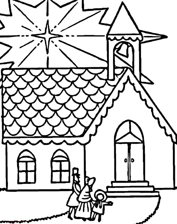 Free Printable Coloring Sheets For Church  Church Free Colouring Pages