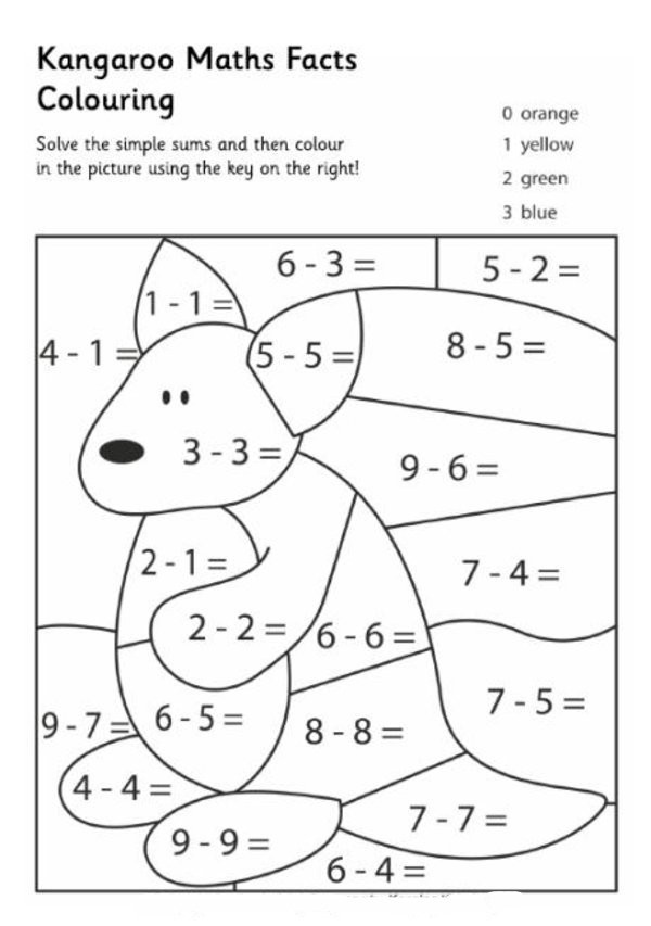 Free Printable Coloring Sheets For Gr.1  Free Coloring Math Worksheets 33 Worksheets Collections