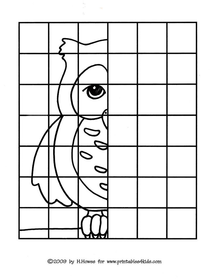 Free Printable Coloring Sheets For Gr.1  Owl plete the Picture Drawing Printables for Kids