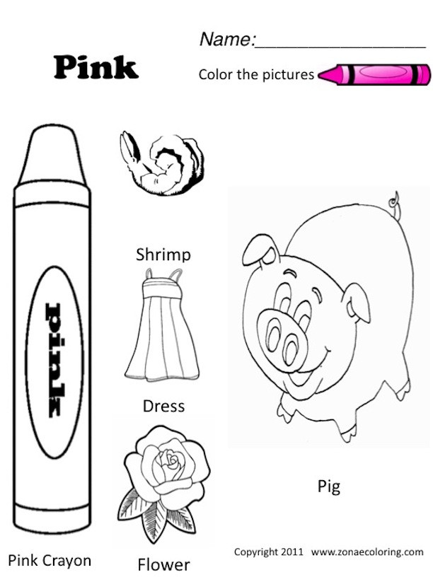 Best ideas about Free Printable Coloring Sheets For Preschoolers On The Color Blue . Save or Pin 6 Best of The Color Pink Worksheets For Now.