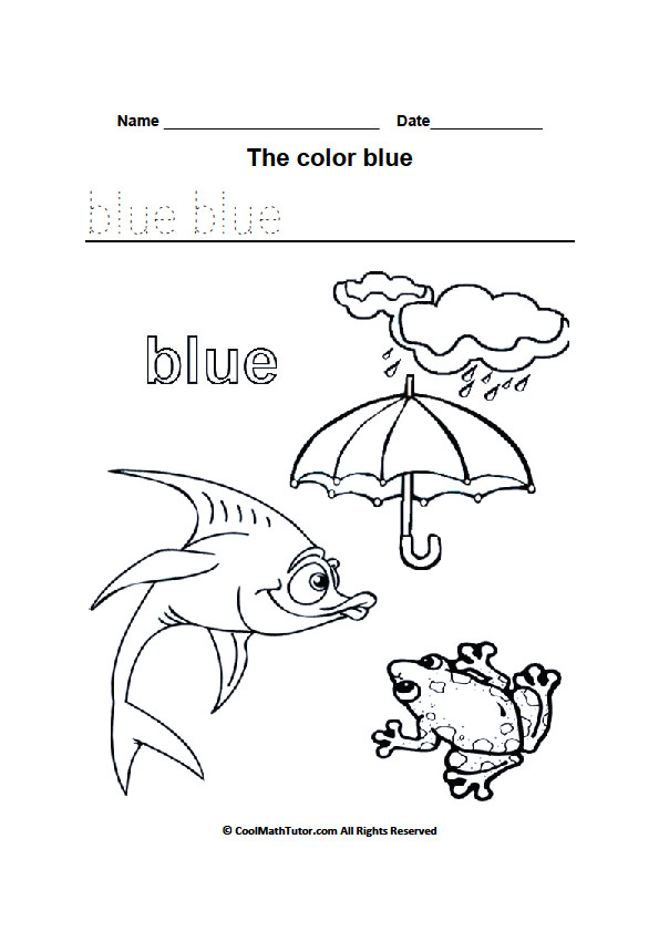 Best ideas about Free Printable Coloring Sheets For Preschoolers On The Color Blue . Save or Pin Preschool Colors Kindergarten Coloring Worksheets Now.