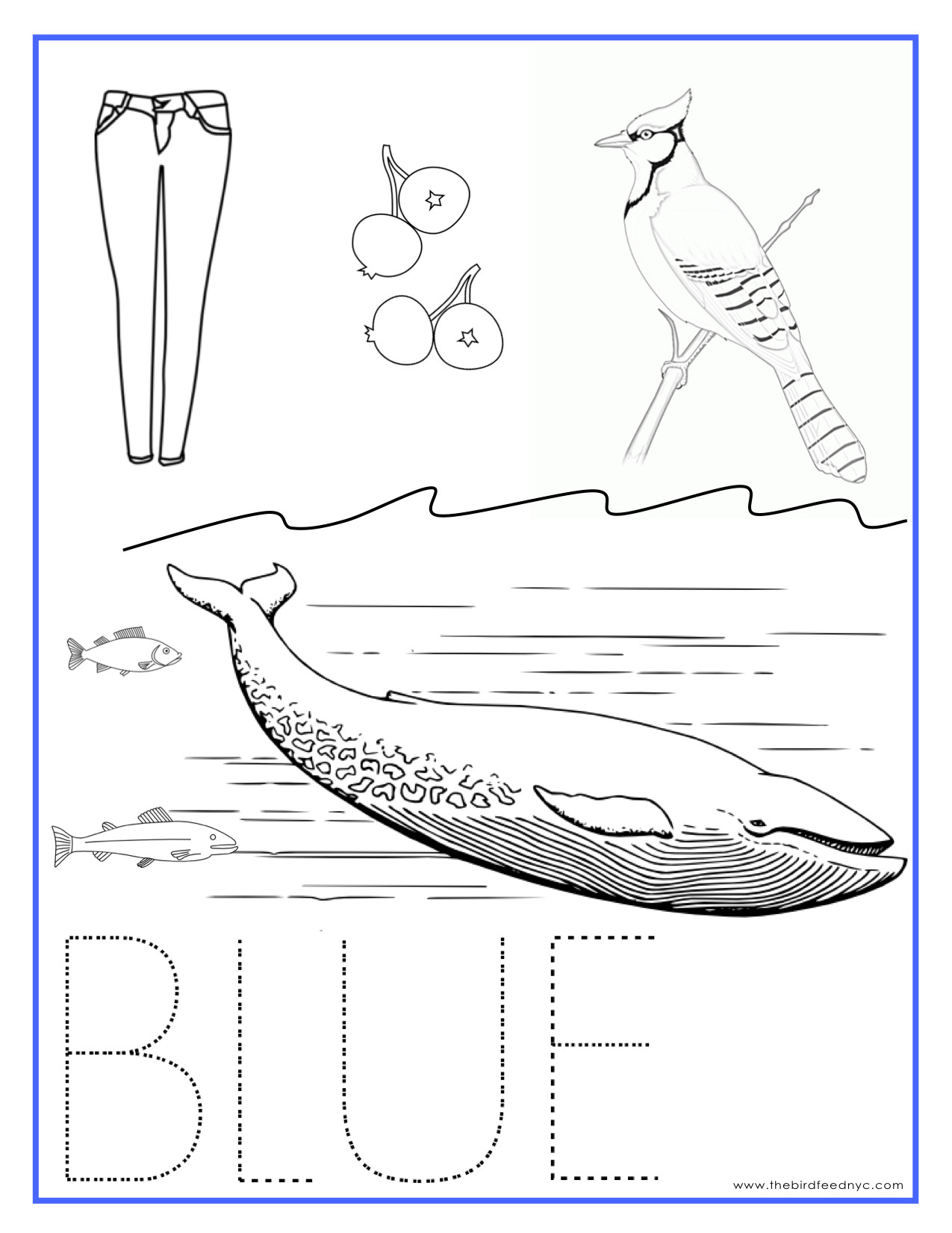 Best ideas about Free Printable Coloring Sheets For Preschoolers On The Color Blue . Save or Pin Printable Coloring Sheets Now.