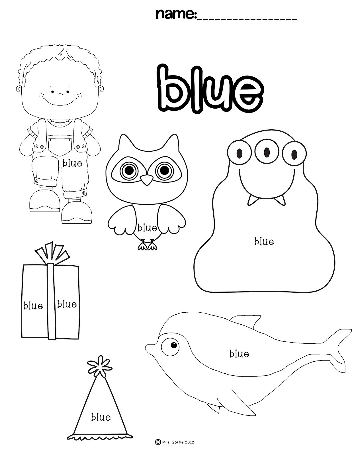 Best ideas about Free Printable Coloring Sheets For Preschoolers On The Color Blue . Save or Pin Blue Color Worksheets Preschool Now.