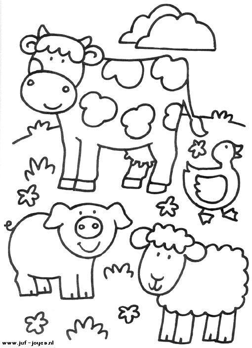 Free Printable Coloring Sheets Of Animals For 5 Grades  Animales de granja dibujos para colorear