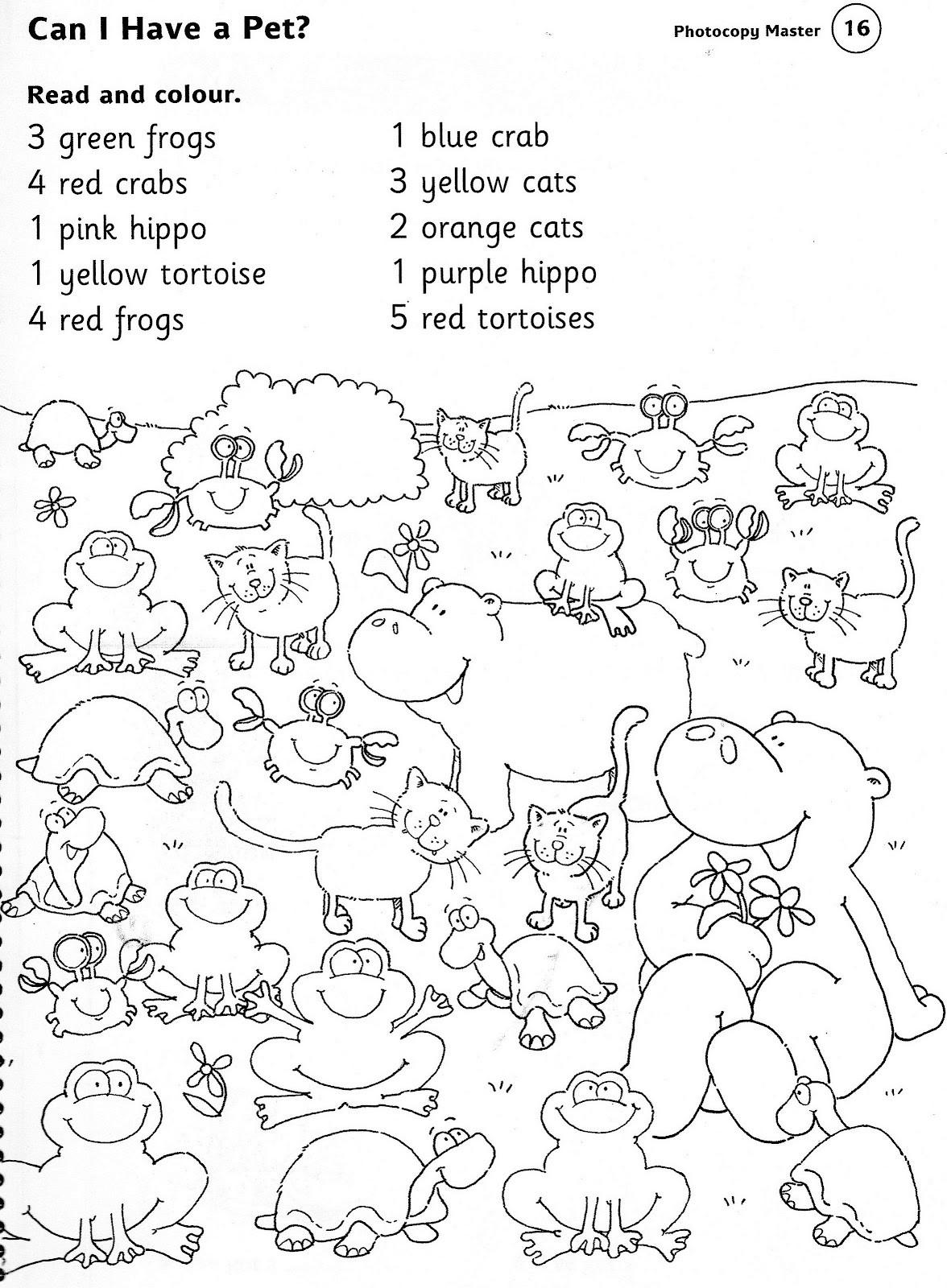 Free Printable Coloring Sheets Of Animals For 5 Grades  Animals worksheets for kindergarten brandonbrice us