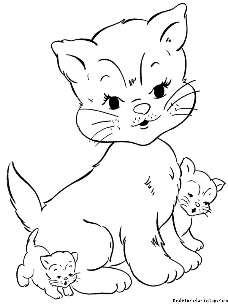 Best ideas about Free Printable Coloring Sheets Of Baby Animals With Big Eyes And Are Kittens . Save or Pin Realistic Cat Coloring Pages Bestofcoloring Now.