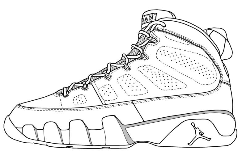 Best ideas about Free Printable Coloring Sheets Shoes . Save or Pin Jordan Shoes Coloring Pages Coloring Home Now.