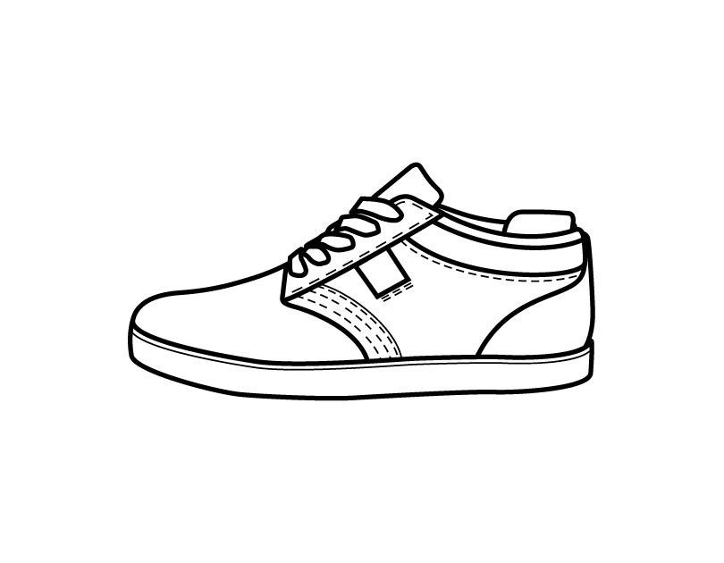 Best ideas about Free Printable Coloring Sheets Shoes . Save or Pin Printable Shoe coloring page from FreshColoring Now.