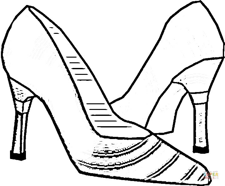 Best ideas about Free Printable Coloring Sheets Shoes . Save or Pin Coloring Pages Shoes Printable Now.