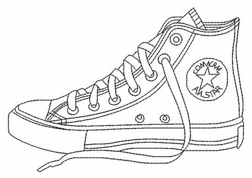 Best ideas about Free Printable Coloring Sheets Shoes . Save or Pin Converse shoes coloring pages printable Enjoy Coloring Now.