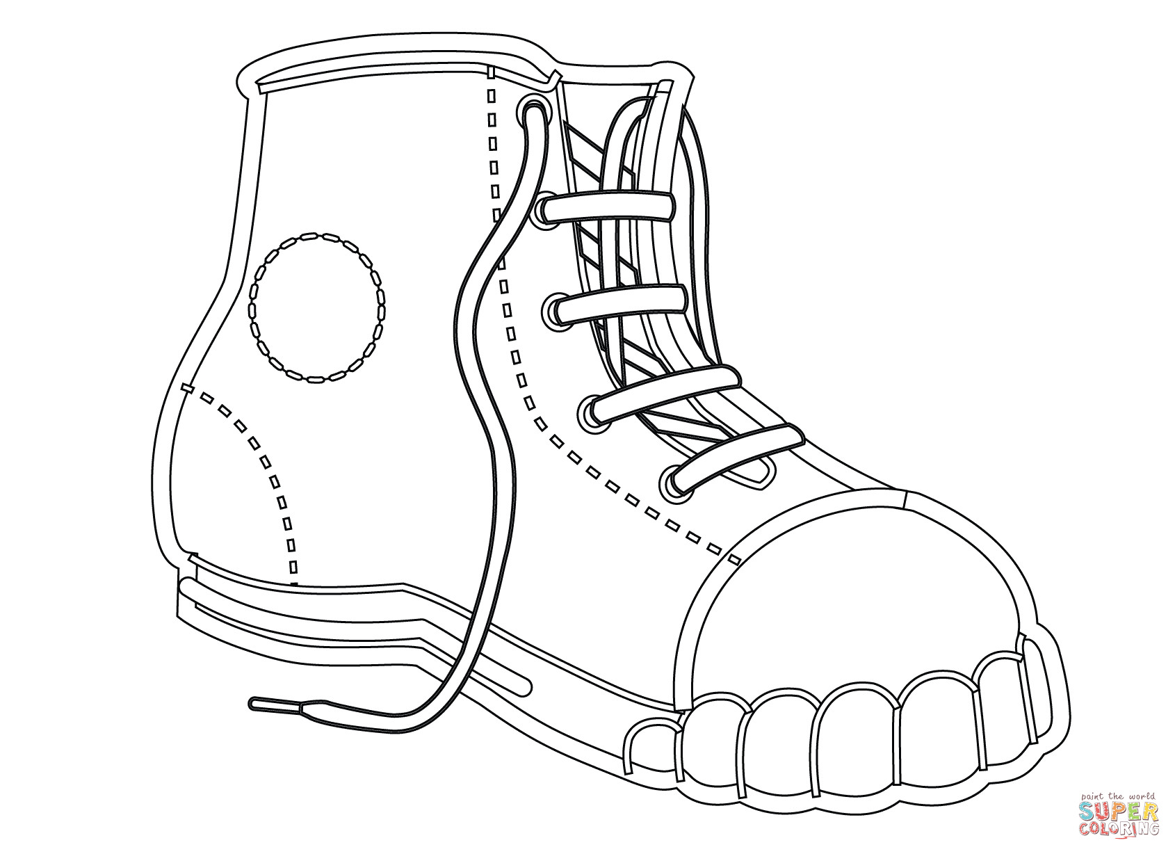 Best ideas about Free Printable Coloring Sheets Shoes . Save or Pin Canvas Shoe coloring page Now.