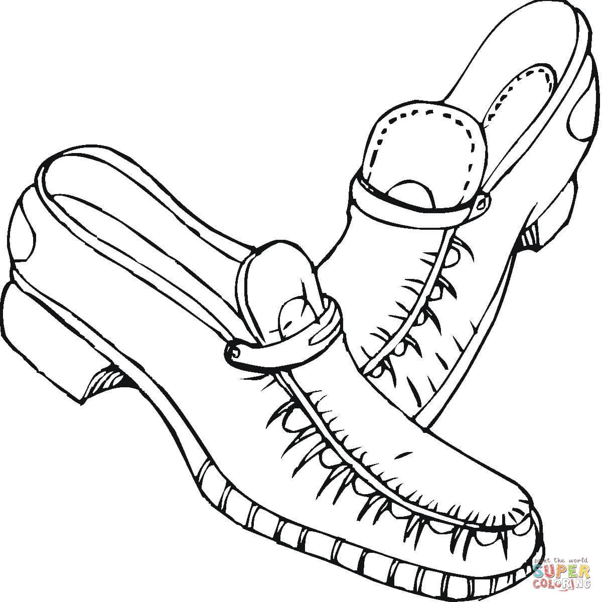Best ideas about Free Printable Coloring Sheets Shoes . Save or Pin Shoes coloring page Now.