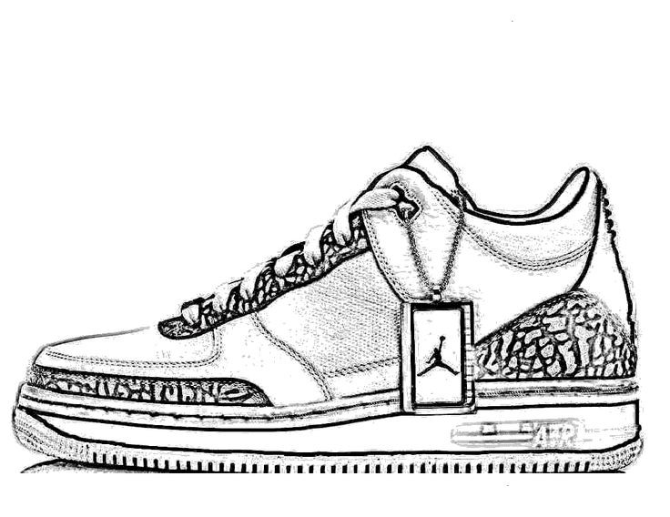 Best ideas about Free Printable Coloring Sheets Shoes . Save or Pin Jordan Shoes Coloring Pages Now.