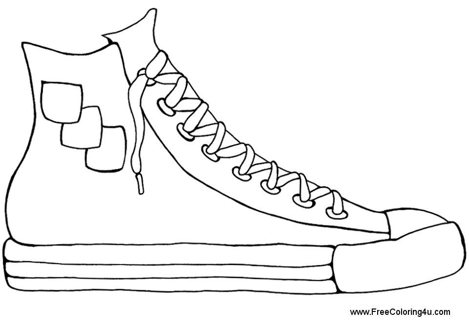 Best ideas about Free Printable Coloring Sheets Shoes . Save or Pin Coloring Pages Shoes Printable Coloring Home Now.