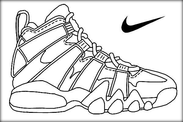 Best ideas about Free Printable Coloring Sheets Shoes . Save or Pin Basketball Jordan Shoe Coloring Pages Color Zini Now.