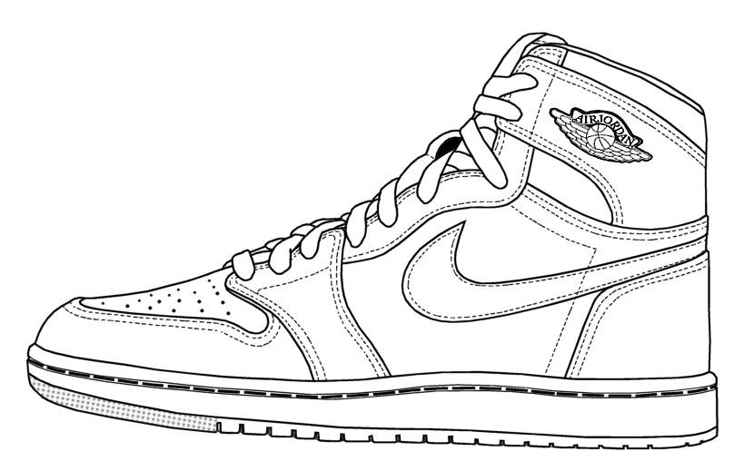 Best ideas about Free Printable Coloring Sheets Shoes . Save or Pin Basketball Shoe Coloring Pages Now.