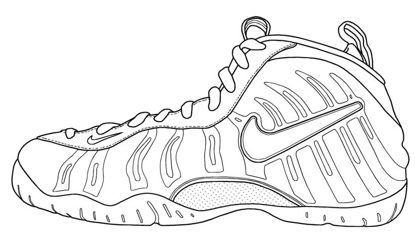 Best ideas about Free Printable Coloring Sheets Shoes . Save or Pin Drawn shoe coloring page Pencil and in color drawn shoe Now.